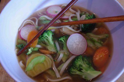 Quick Soba Noodle Soup